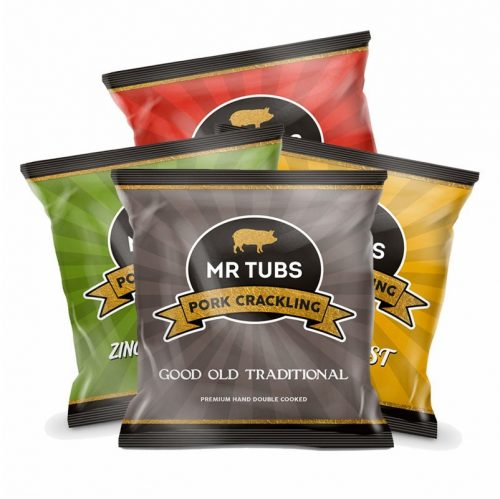 Pork Crackling Bags - Mixed Pack