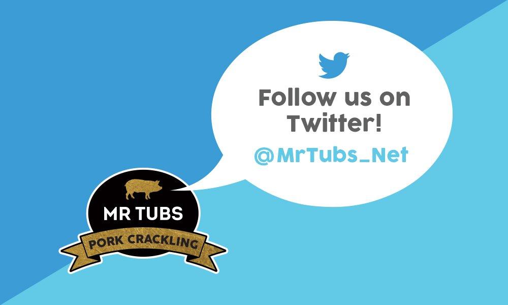 Follow Mr Tubs Twitter Social Media