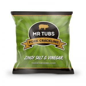 Salt and Vinegar Flavoured Pork Cracking Bags