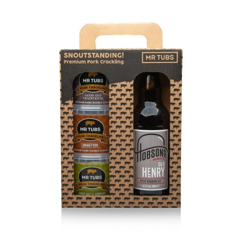 Beer Gift Set with Pork Crackling - Mr Tubs Pork Crackling Gifts Range