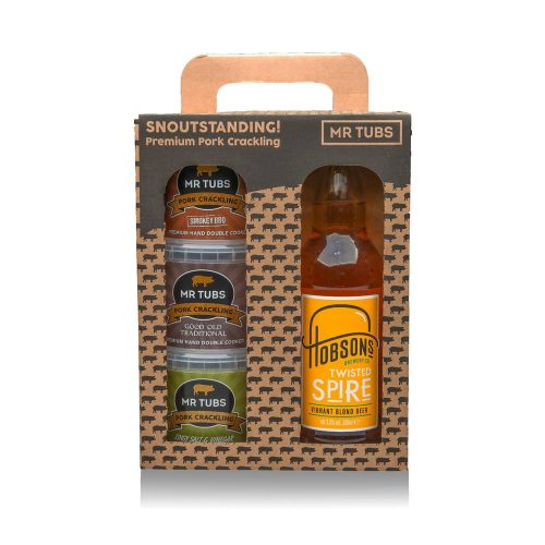 Beer and Pork Scratchings Gift Sets - Mr Tubs Pork Crackling Gifts