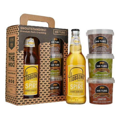 mr tubs blonde beer pork crackling gift set