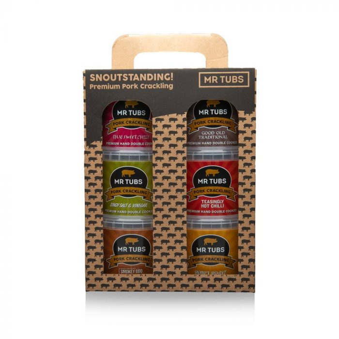 Pork Crackling Gift Set (6 pack) - Mr Tubs Pork Crackling Gifts Range