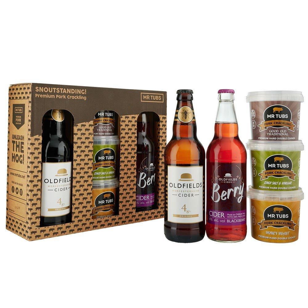 mr tubs original and berry cider pork crackling gift set