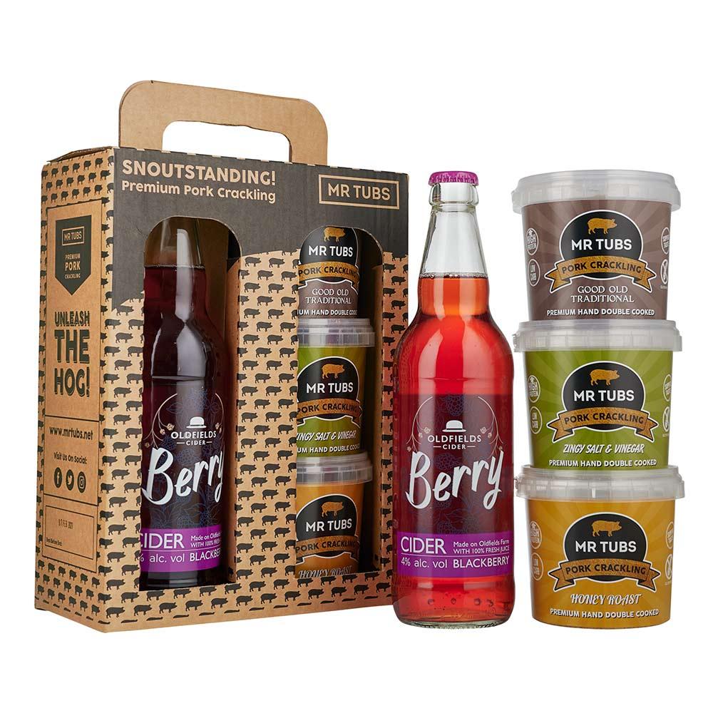 mr tubs berry cider pork crackling gift set