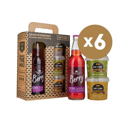 mr tubs pork crackling berry cider gift set - case of 6