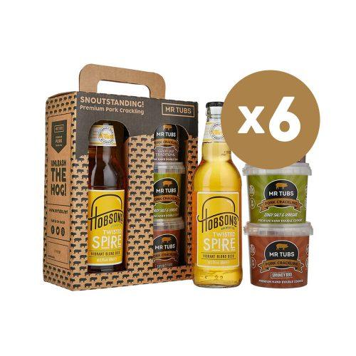 mr tubs pork crackling blonde beer gift set - case of 6